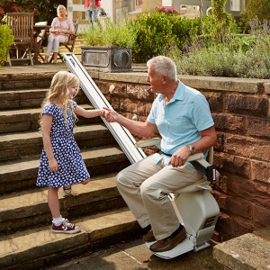 Stairlift for Garden Steps